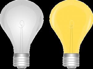 Bilden föreställer glödlampor